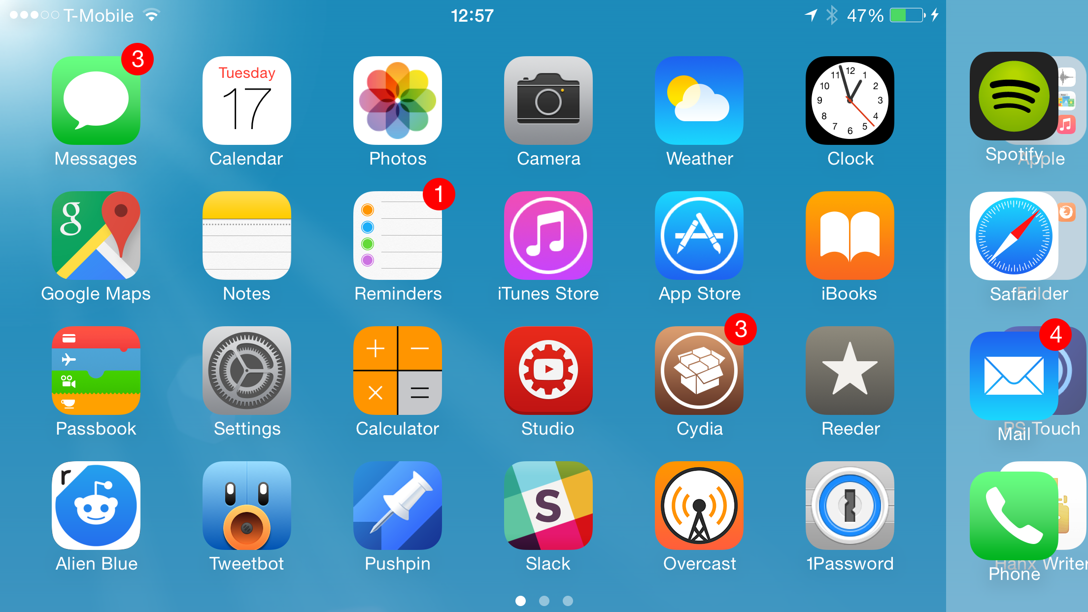 LockInfo8 Dock bug iPhoen 6 Plus landscape