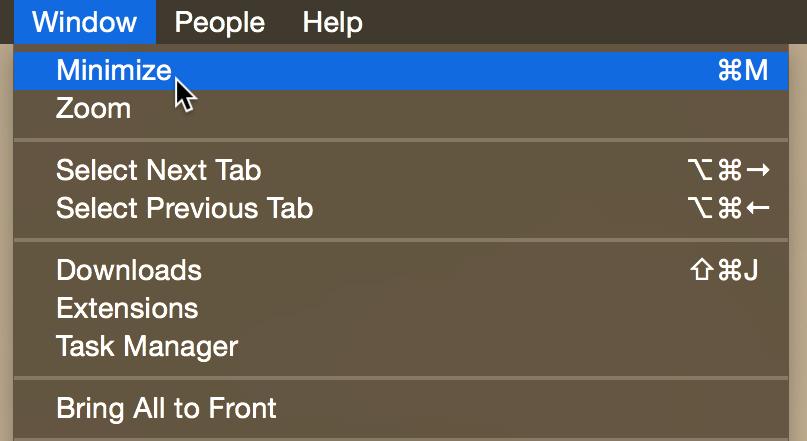 Minimize Chrome