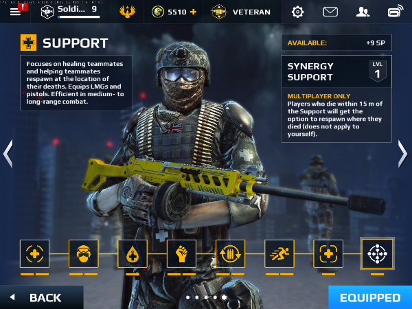 Moder Combat 5 Blackout 1.2 for iOS Support soldier