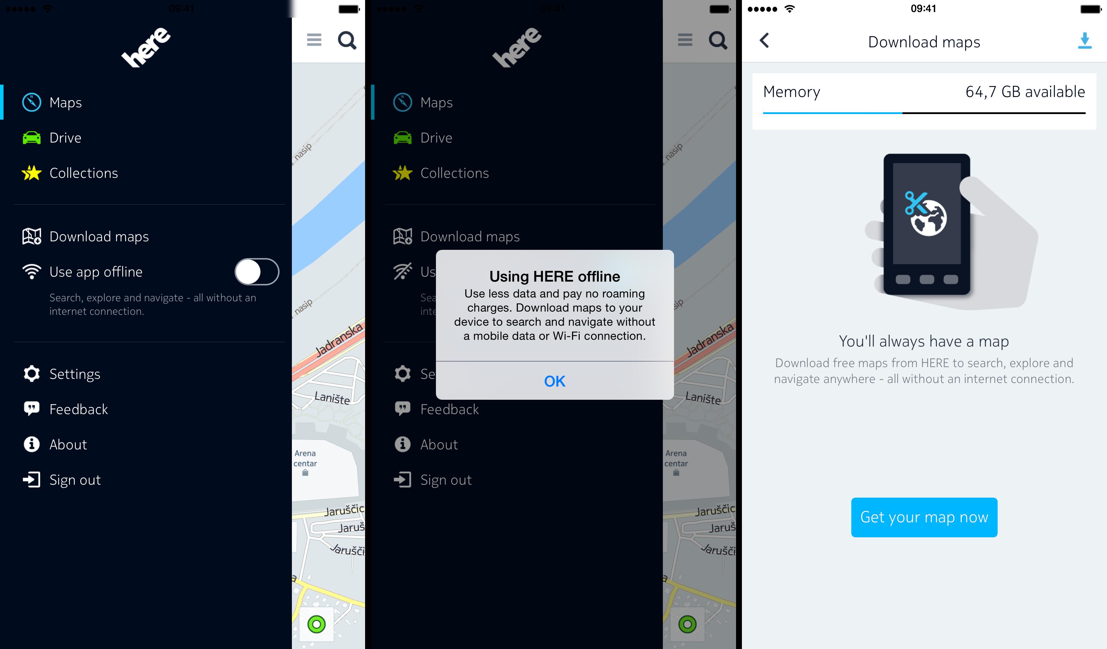 Captura de pantalla 002 de Nokia HERE 1.0 para iOS iPhone
