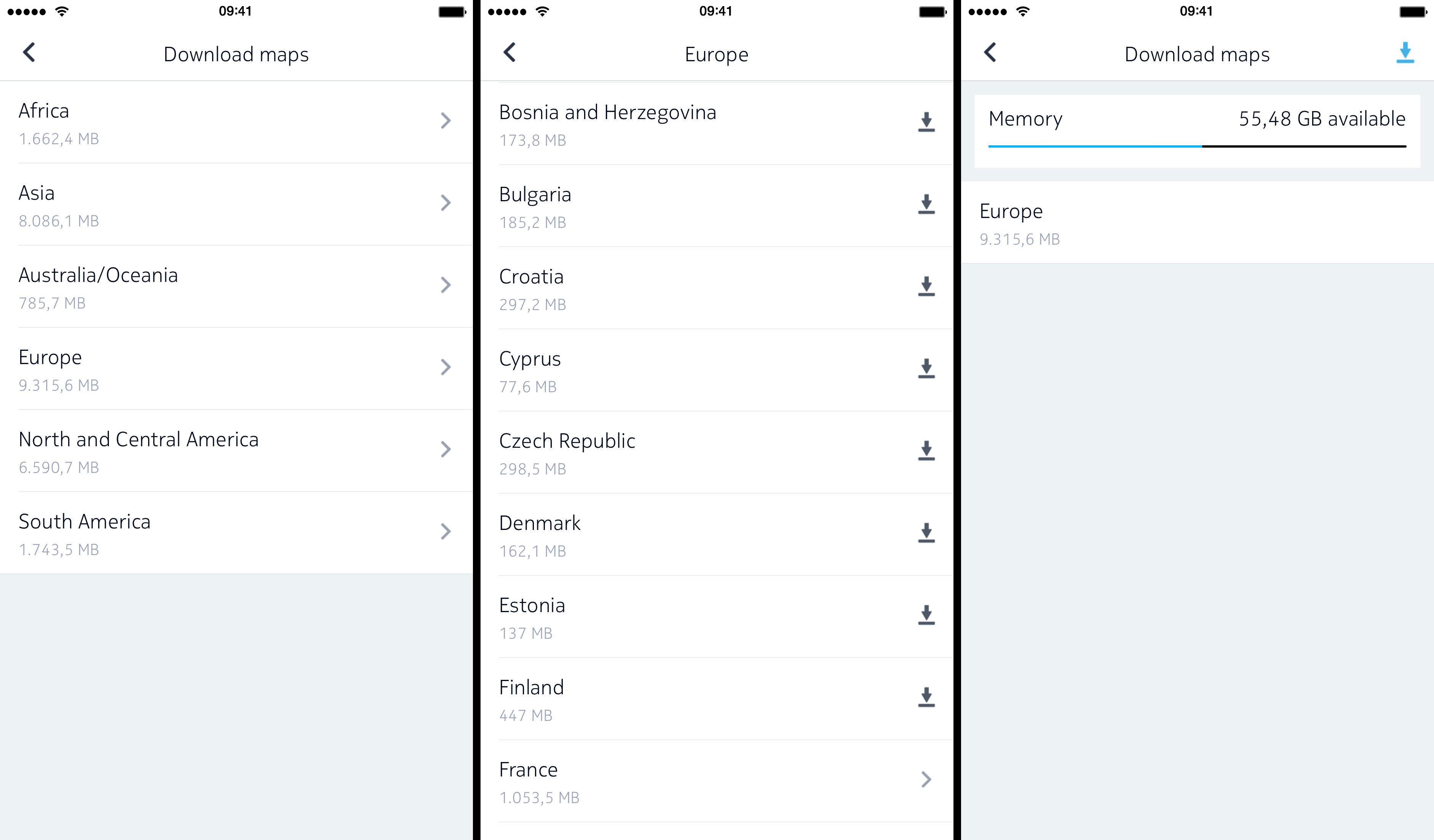 Captura de pantalla 003 de Nokia HERE 1.0 para iOS iPhone
