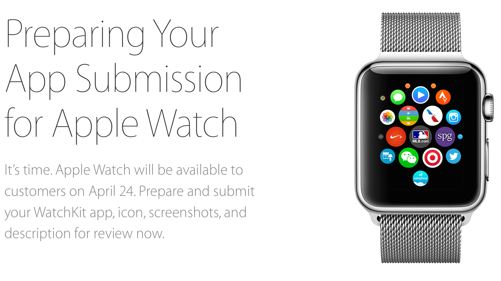 Preparing Your App Submission for Apple Watch