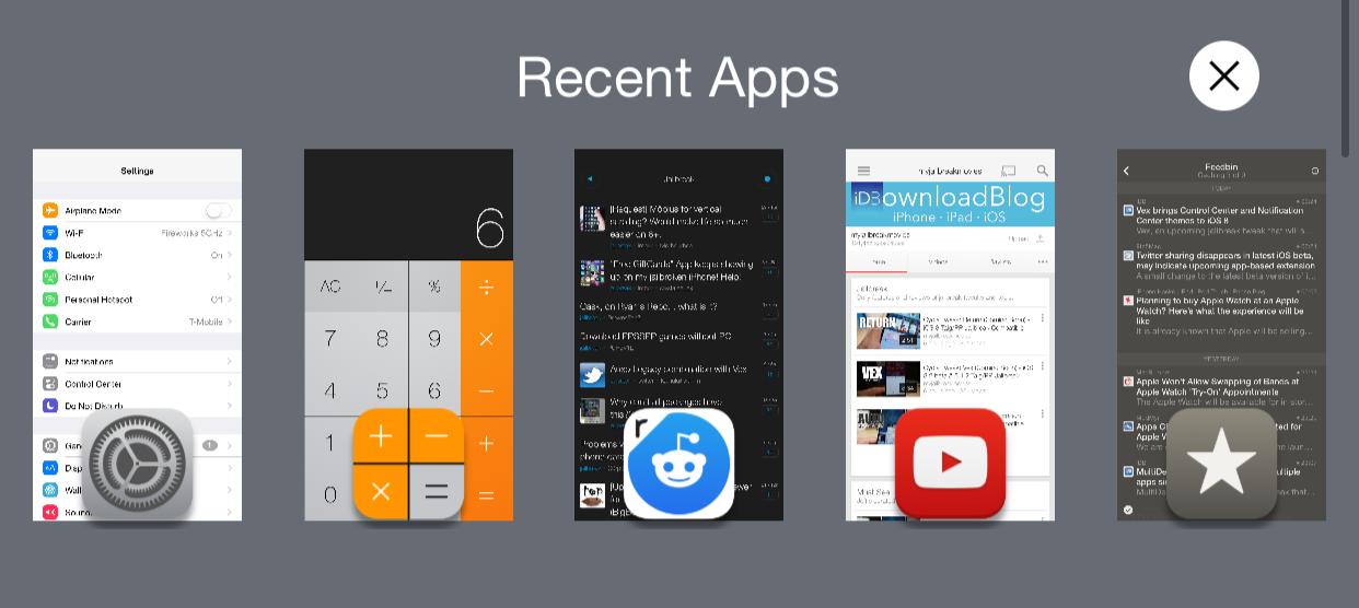 Return Recent Apps