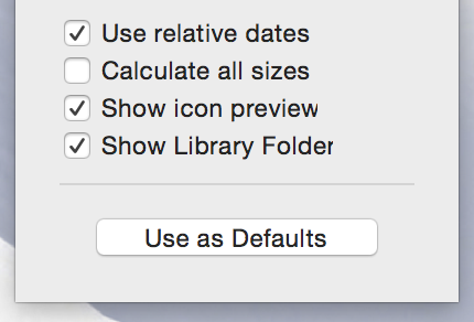 Show view options library