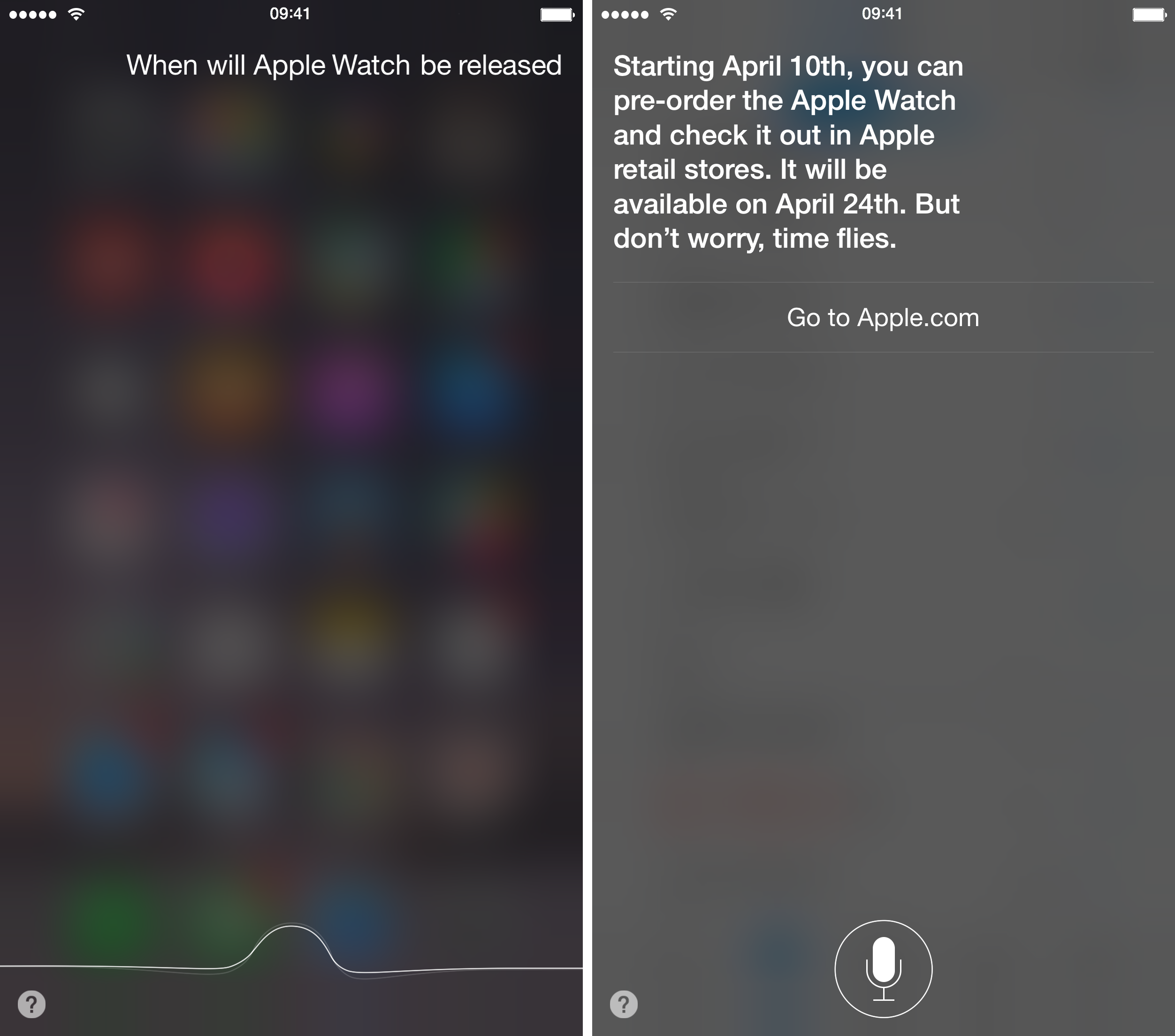 Siri resposes on Apple Watch iPhone screenshot 001