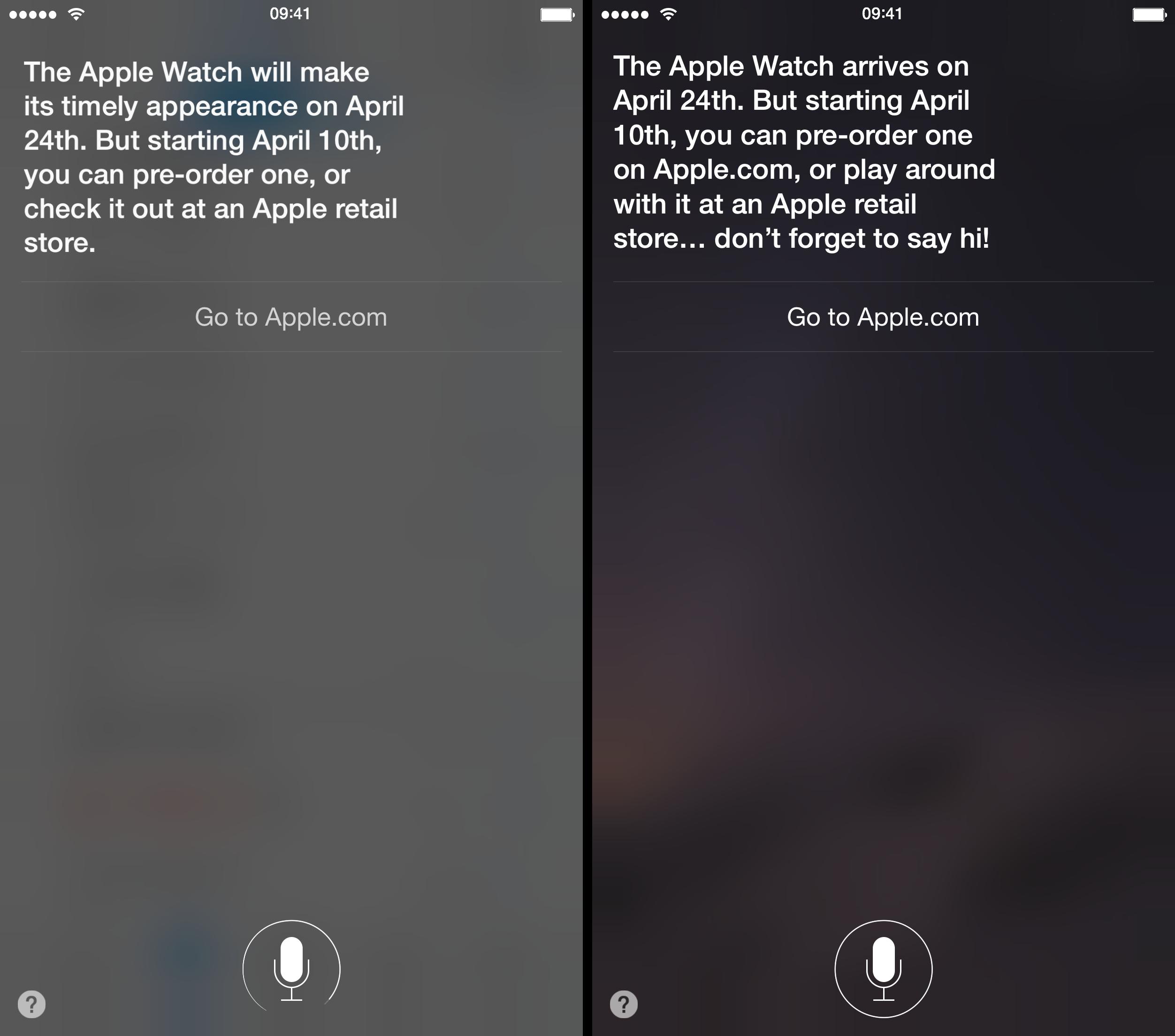 Siri resposes on Apple Watch iPhone screenshot 002