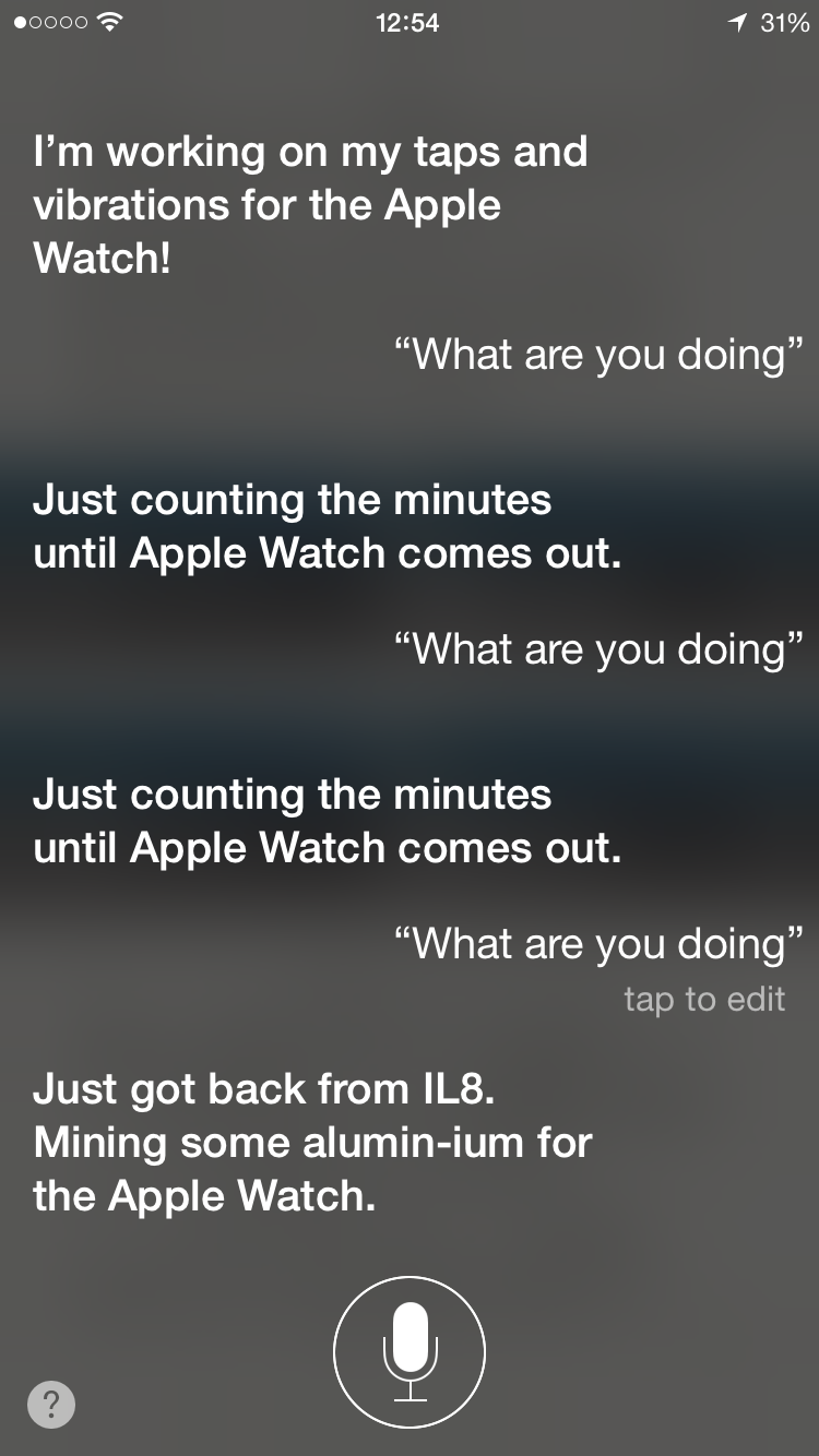 Siri resposes on Apple Watch iPhone screenshot 003