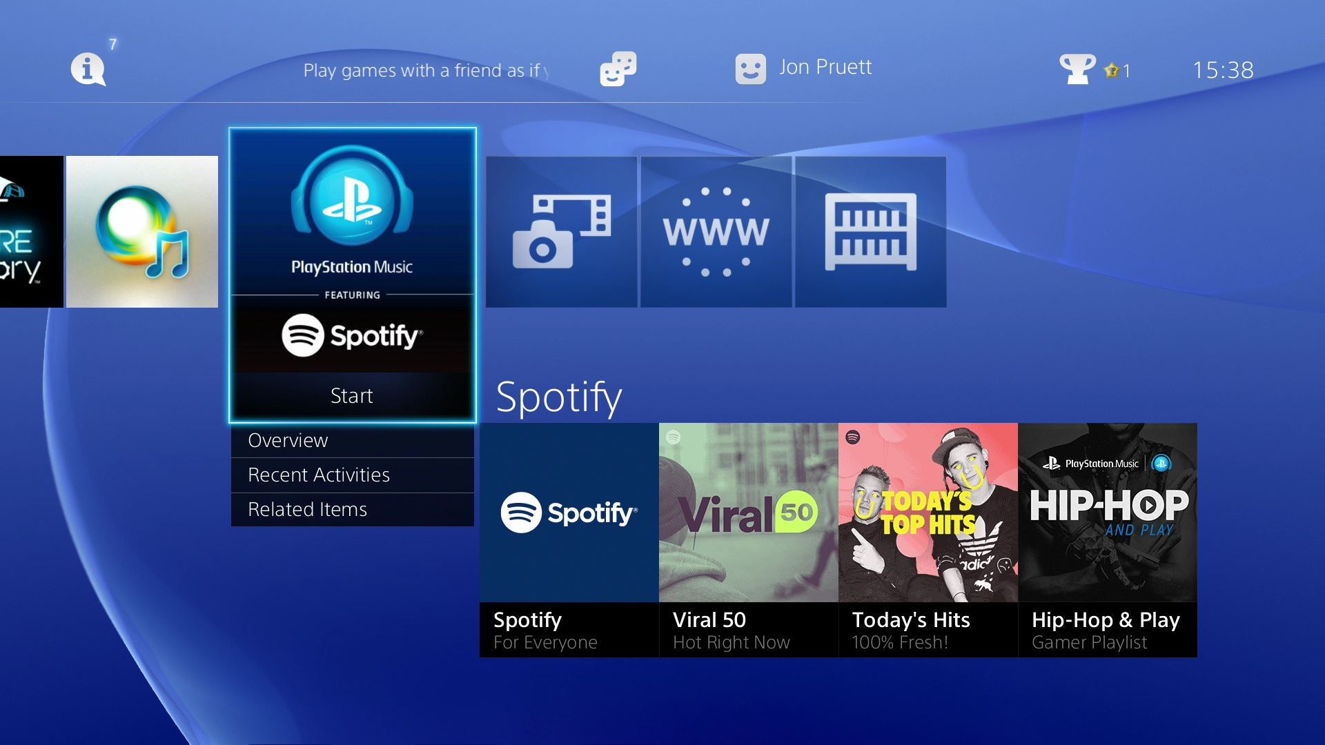 Sony PlayStation Music Home screenshot 001