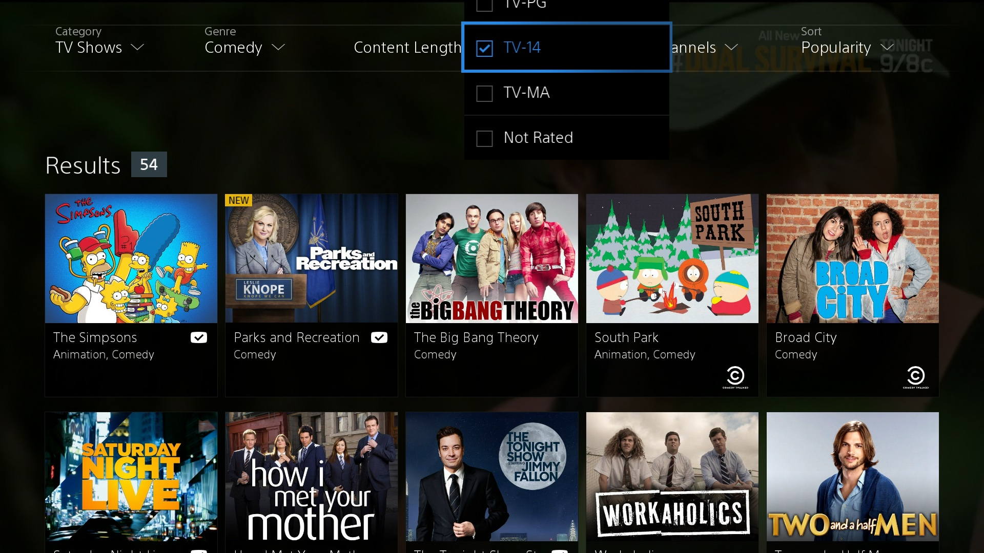 Sony PlayStation Vue screeenshot 002
