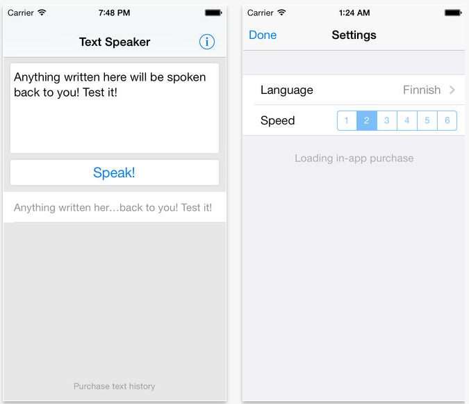 Speak Text