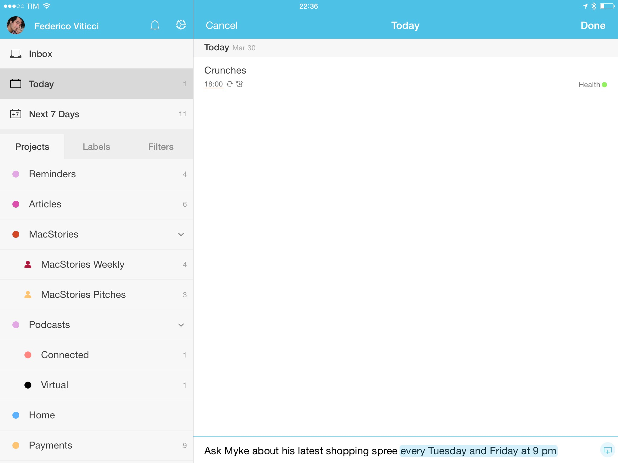 Todoist 10 for iOS iPhone screenshot MacStories 001