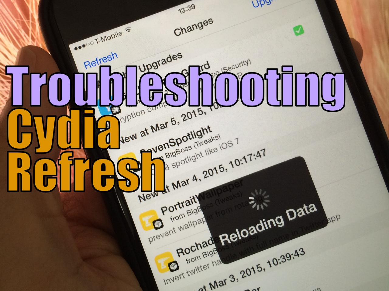 How to troubleshoot Cydia refresh issues