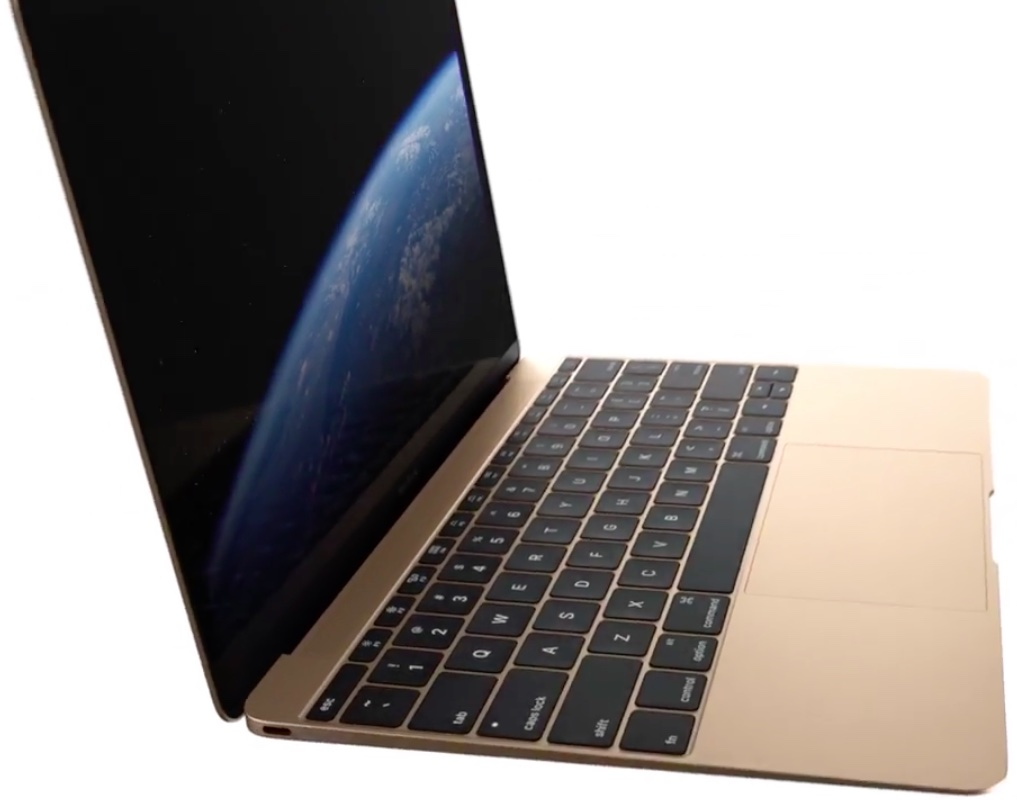 Twelve inch MacBook Gold closeup 001