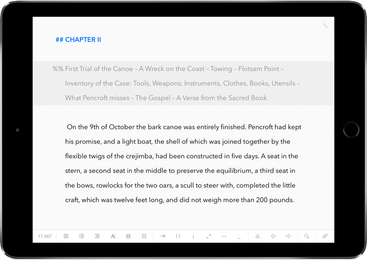 Ulysses for iOS iPad screenshot 001