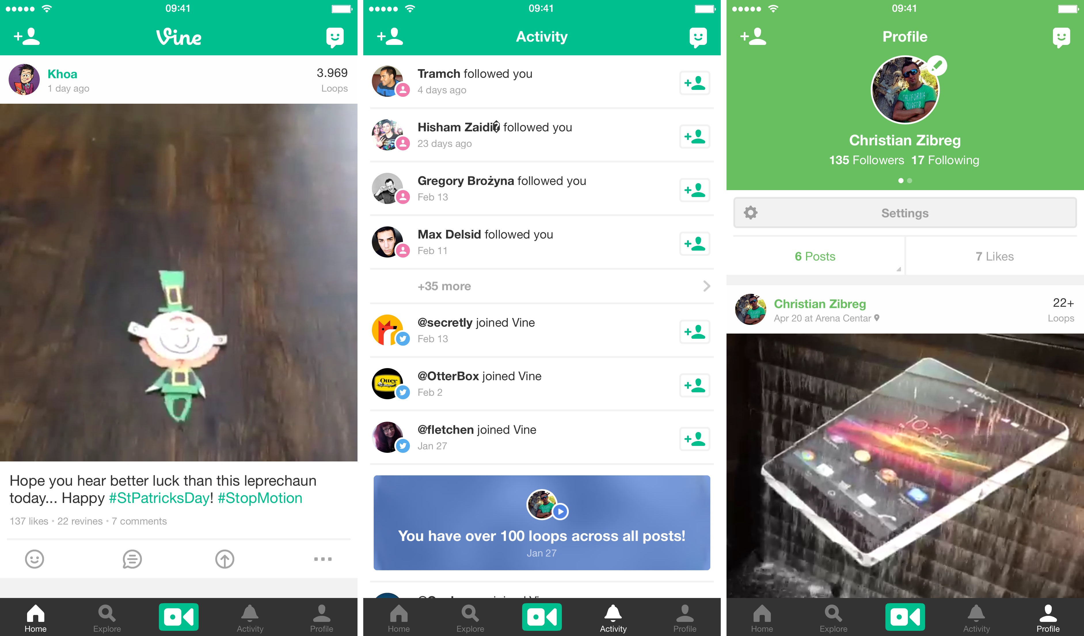 Vine 3.3 for iOS iPhone screenshot 001