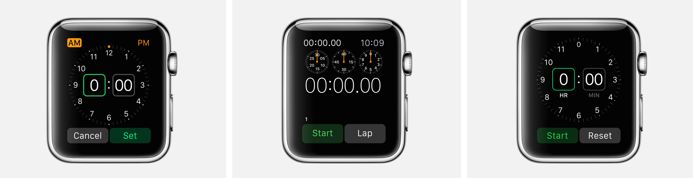 alarm stopwatch timer watch apps