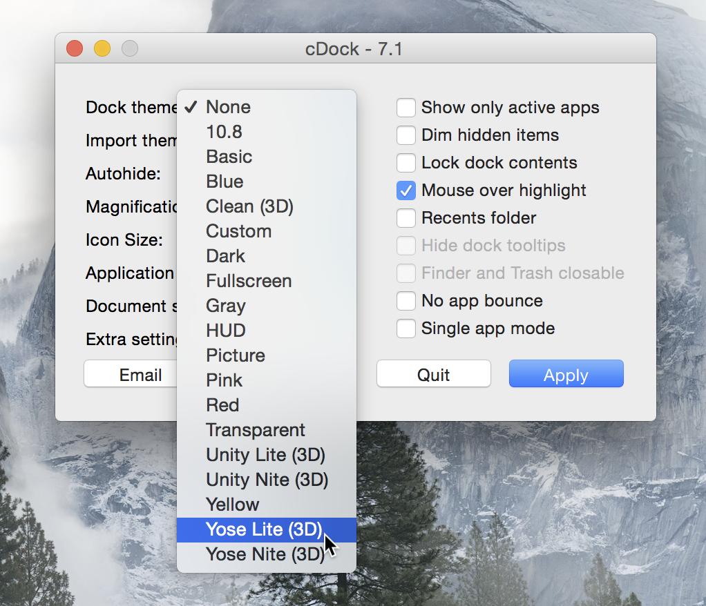 cDock 3D Dock Mac