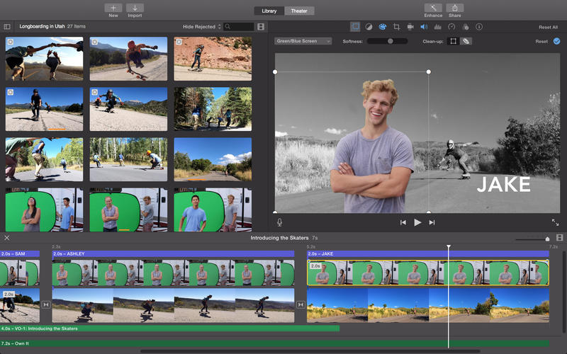 iMovie 10.0.7 for OS X Mac screenshot 001