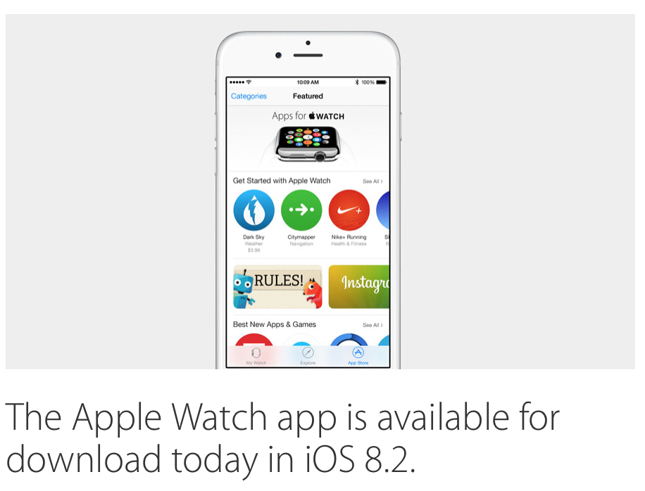 iOS 8.2 will be available for download today