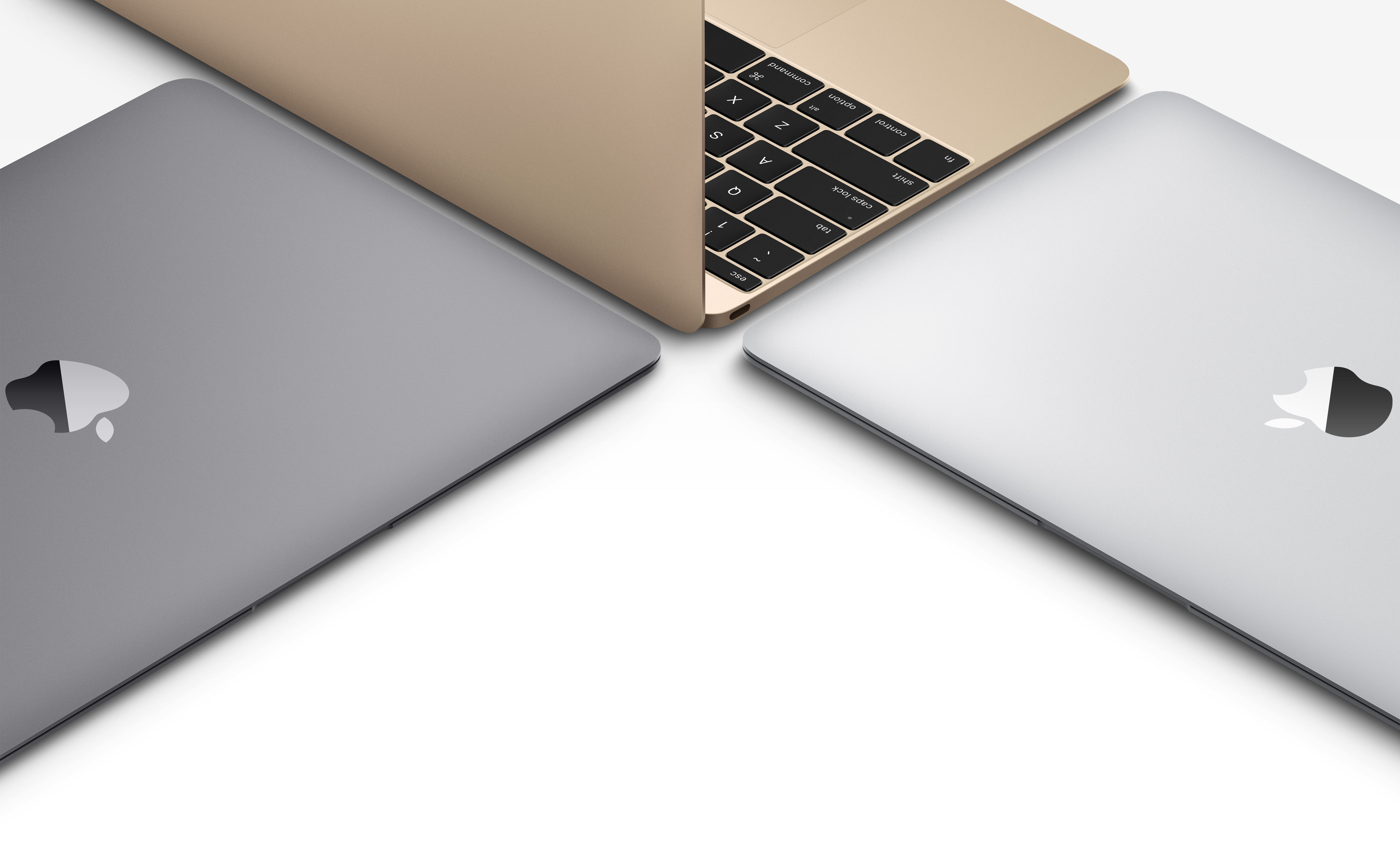 new MacBook silver gold space gray