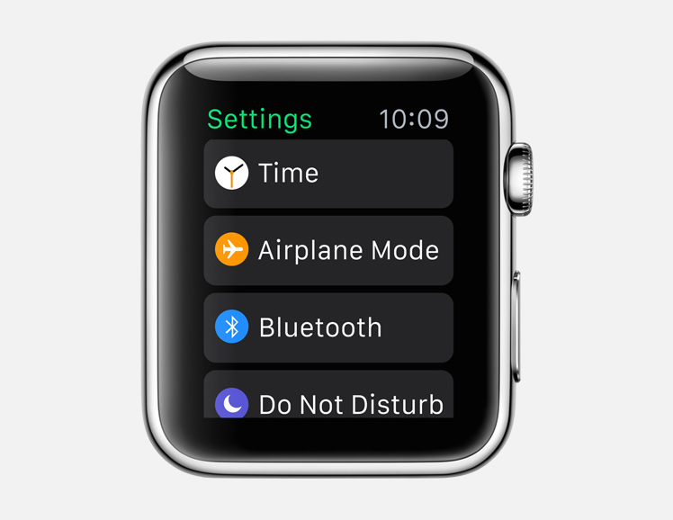 settings watch app