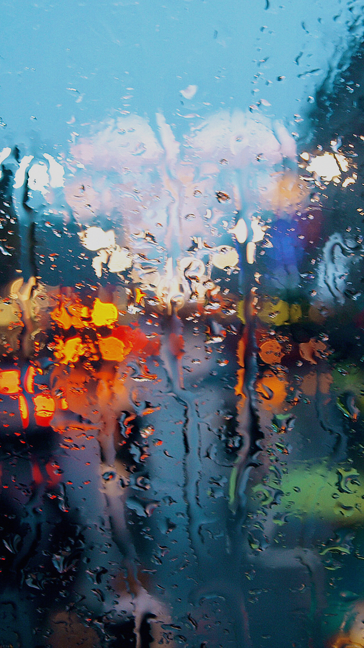 Bokeh wallpapers for iphone and ipad - Rainy window wallpaper ...