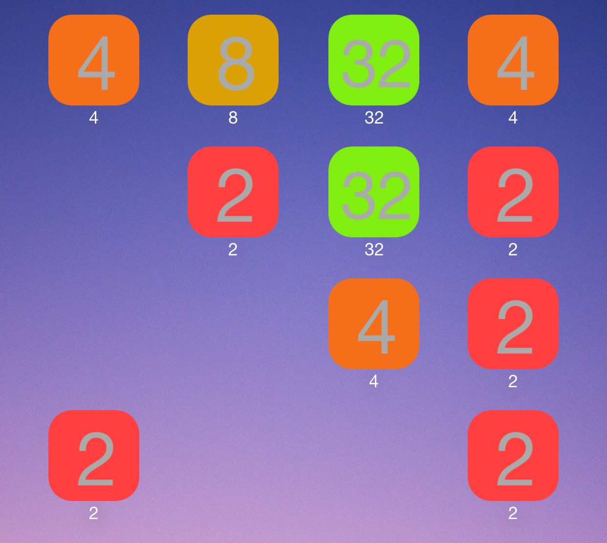 2048oard Home screen
