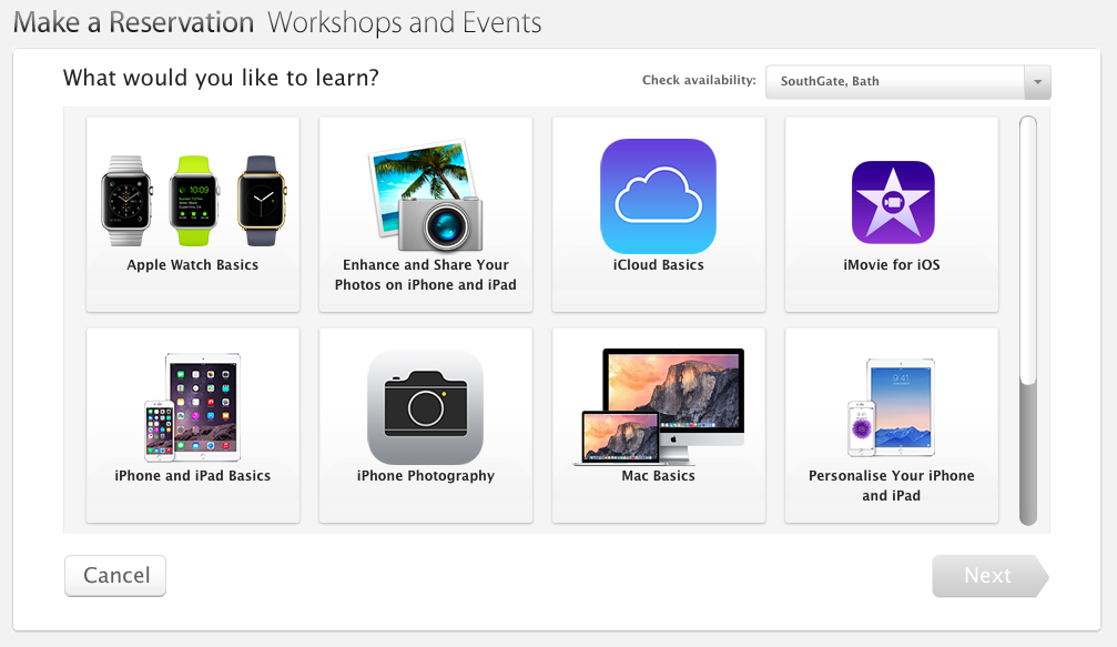 Apple Store workshop Apple Watch Basics