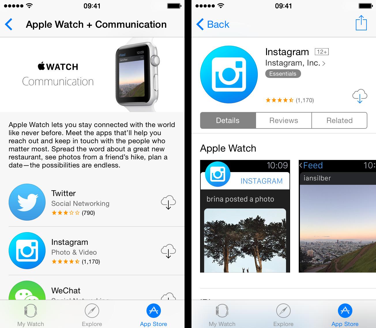 Apple Watch App Store Instagram