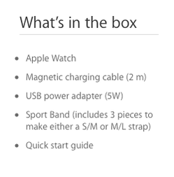 Apple Watch Sport Band three pieces