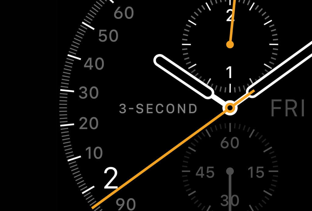 Apple Watch Three Second face