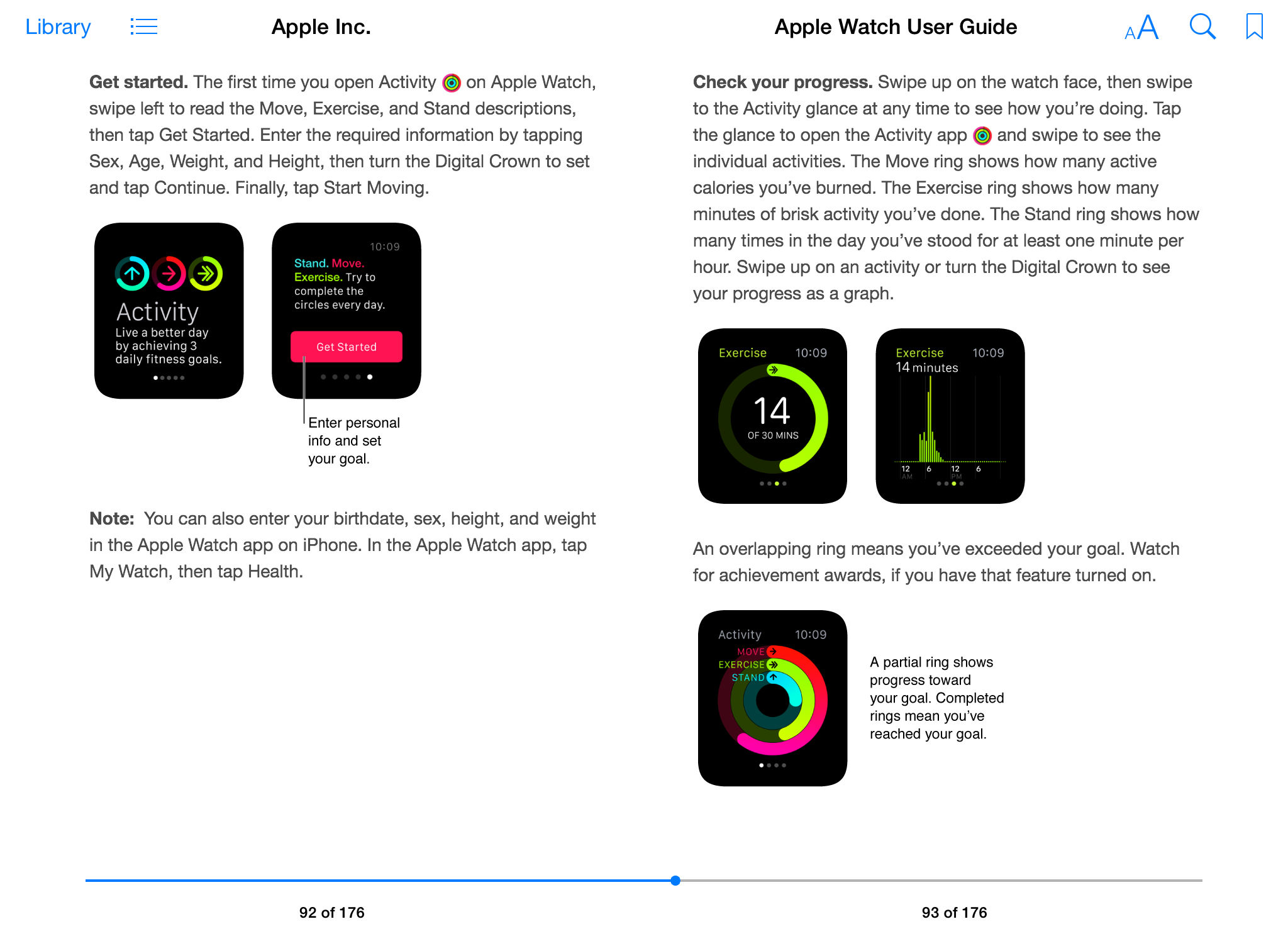 Apple Watch User Guide iBook screenshot 005