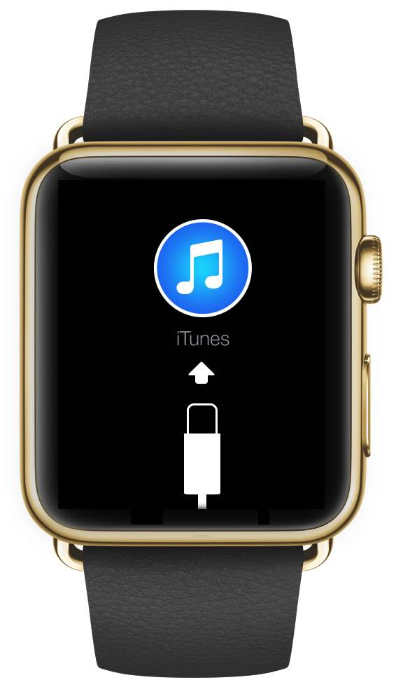 Apple Watch gold connect to iTunes mockup 001