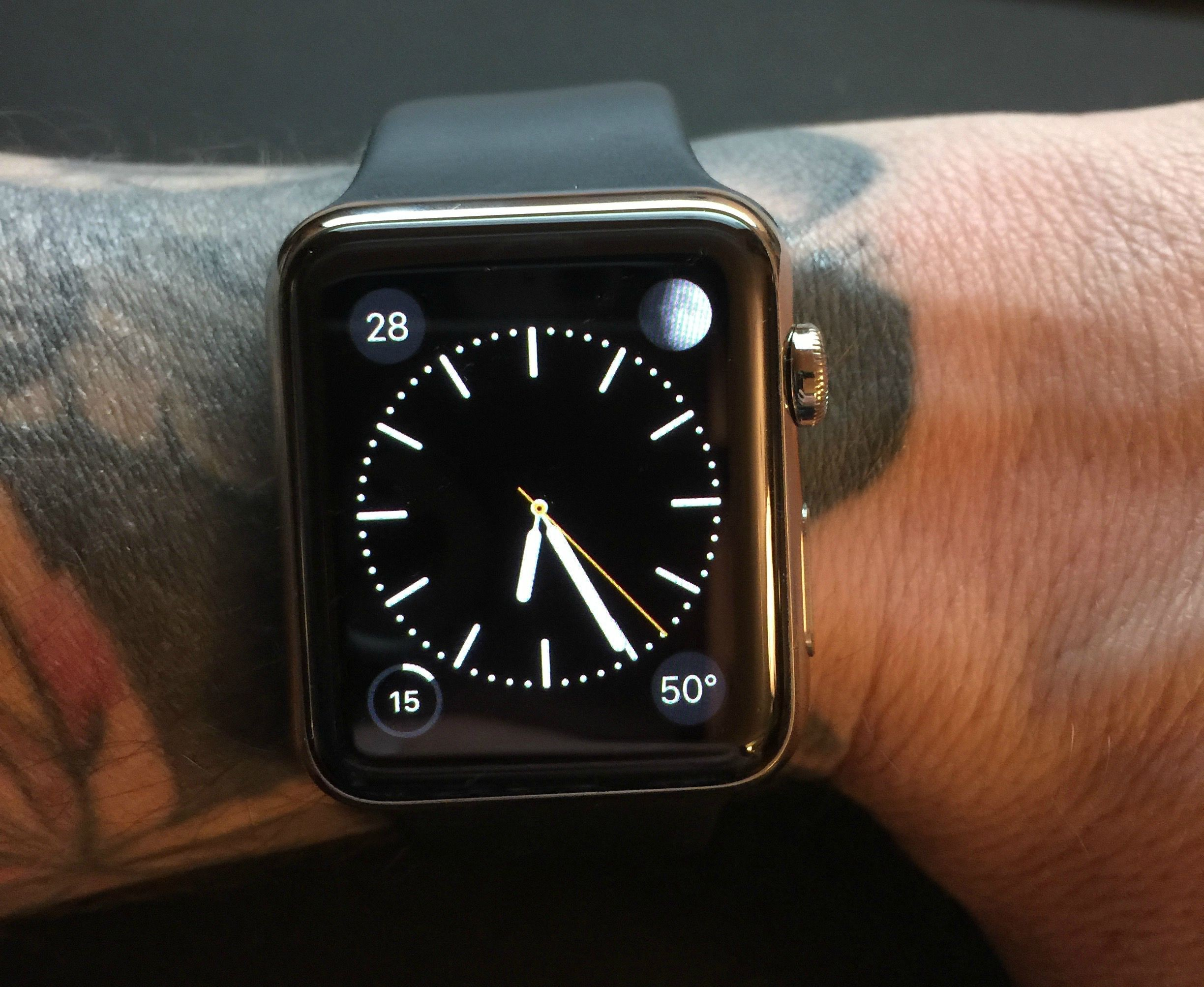Apple Watch tattooed wrist 001