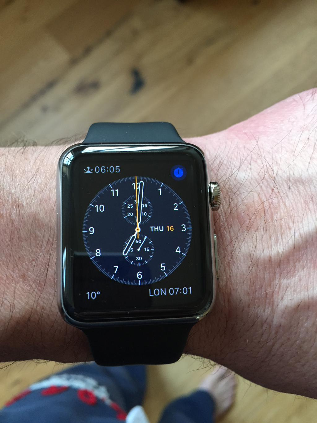 Apple Watch with black Sport band Will Carling 001