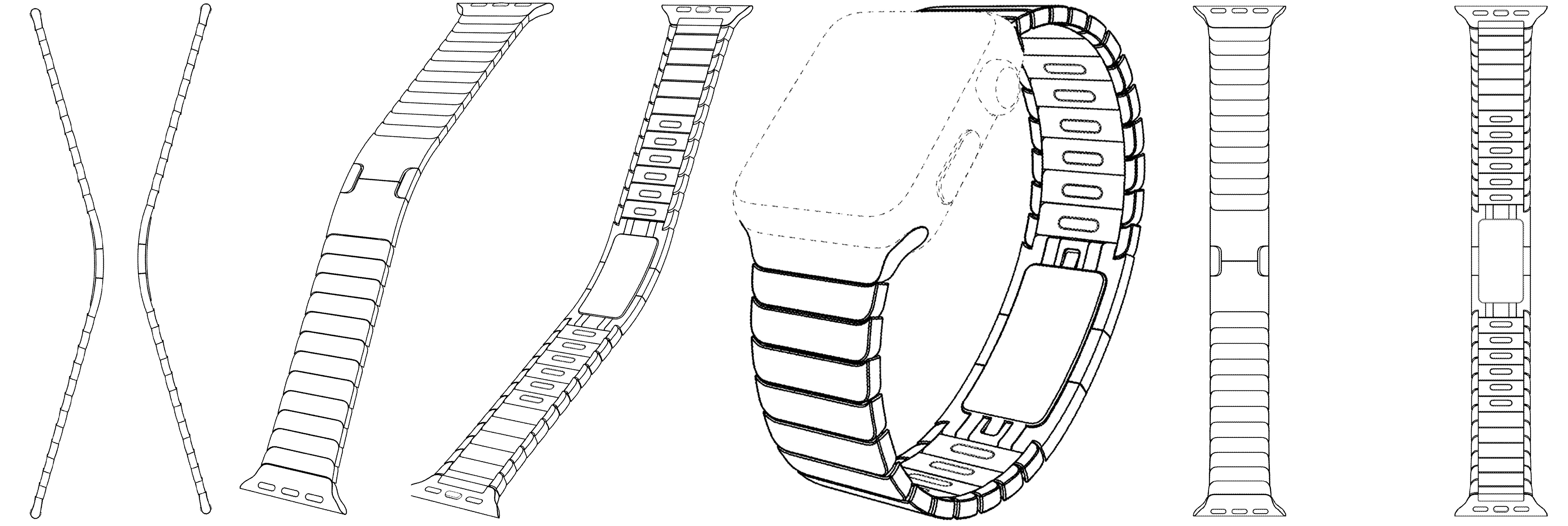 Apple patent Watch Link Bracelet design 001