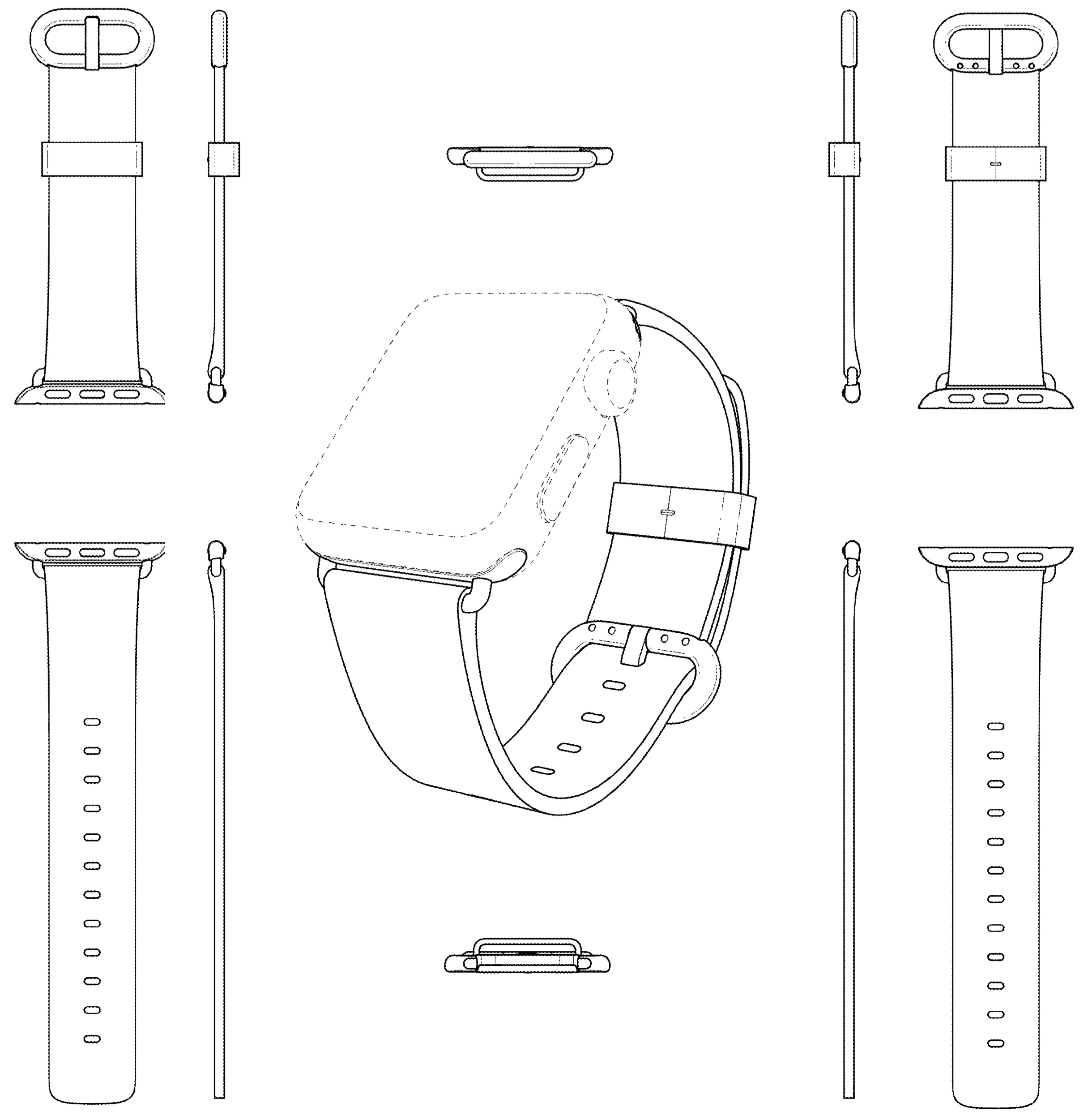 Apple patent Watch Classic Buckle design 001