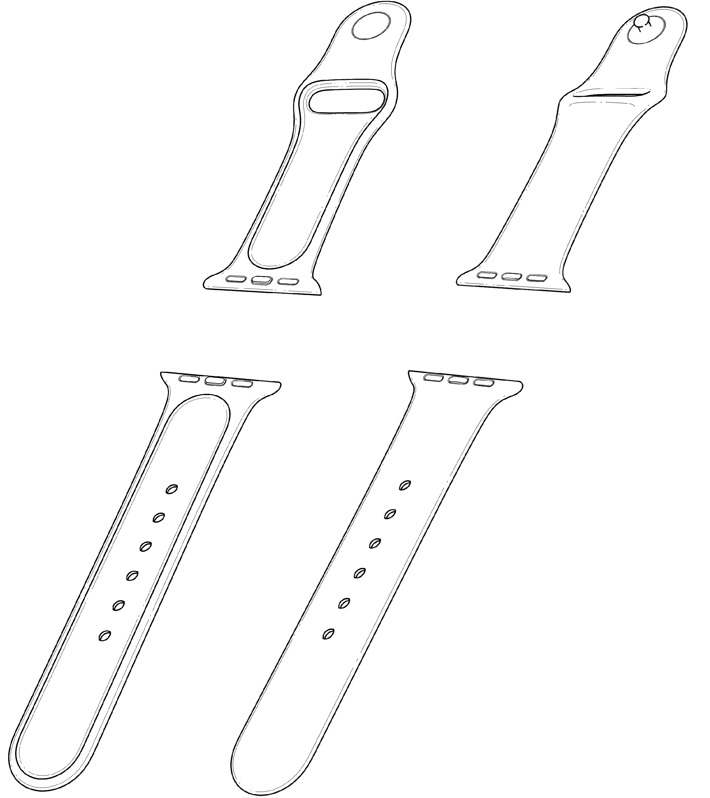 Apple patent Watch Sport Band design 002
