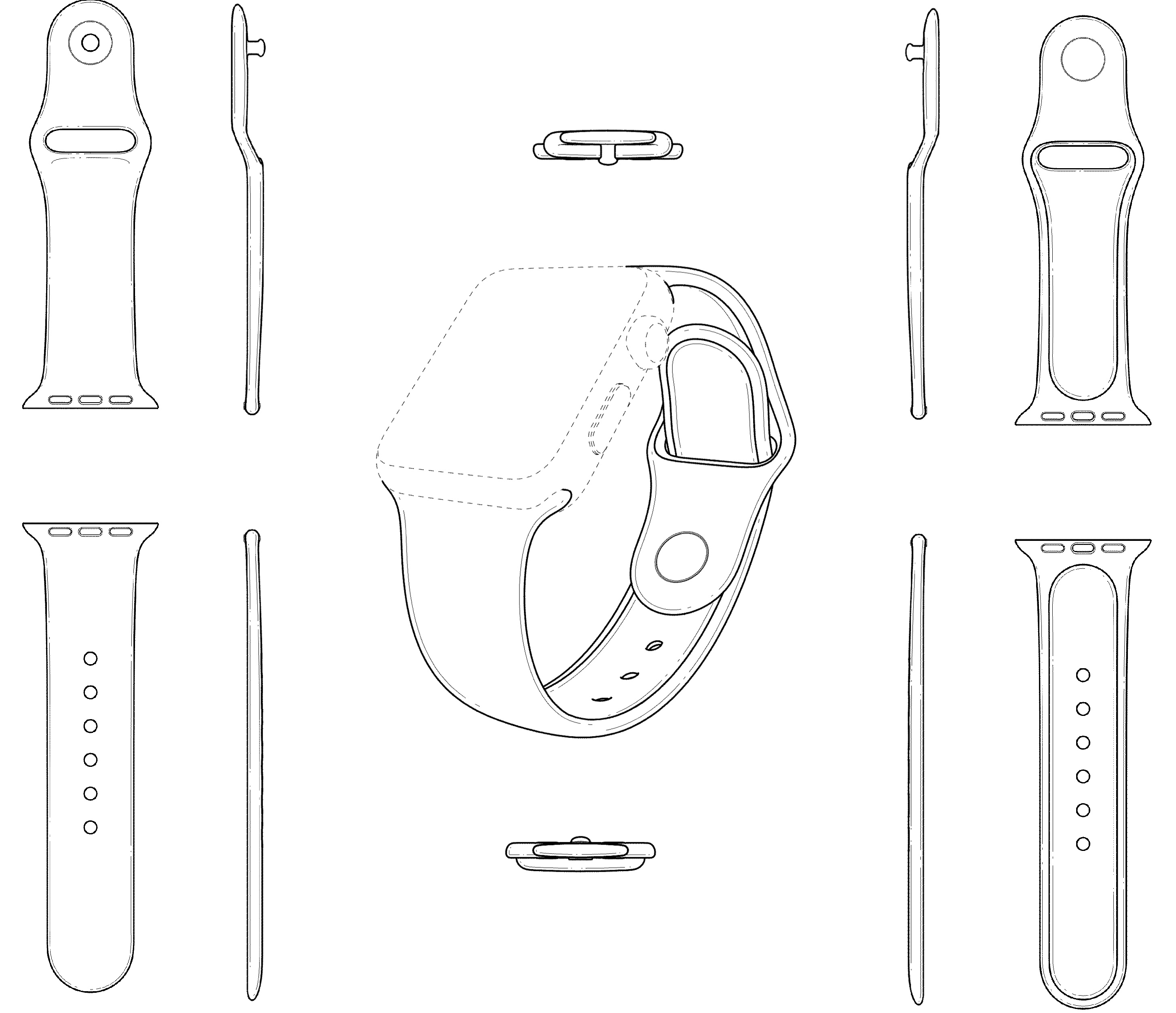 Apple patent Watch Sport Band design 003