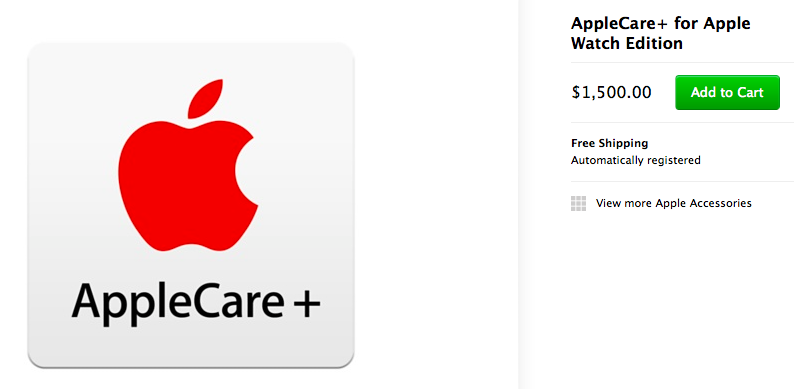 AppleCare Plus for Apple Watch Edition
