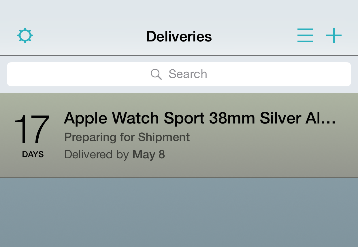Deliveries Apple Watch