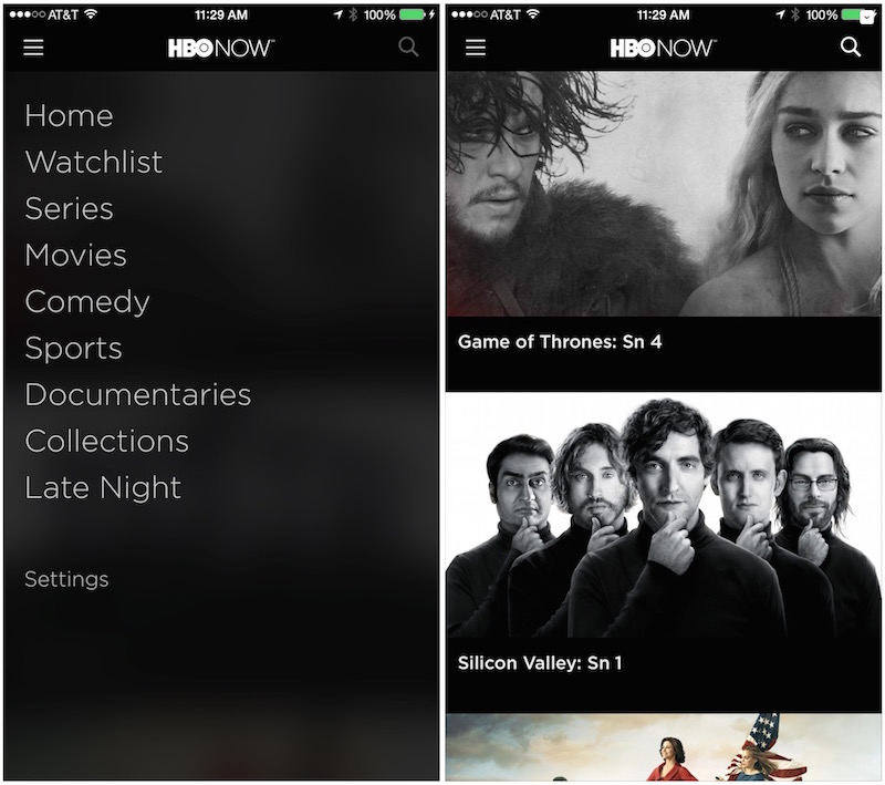 HBO NOW 1.0 for iOS iPhone screenshot 001