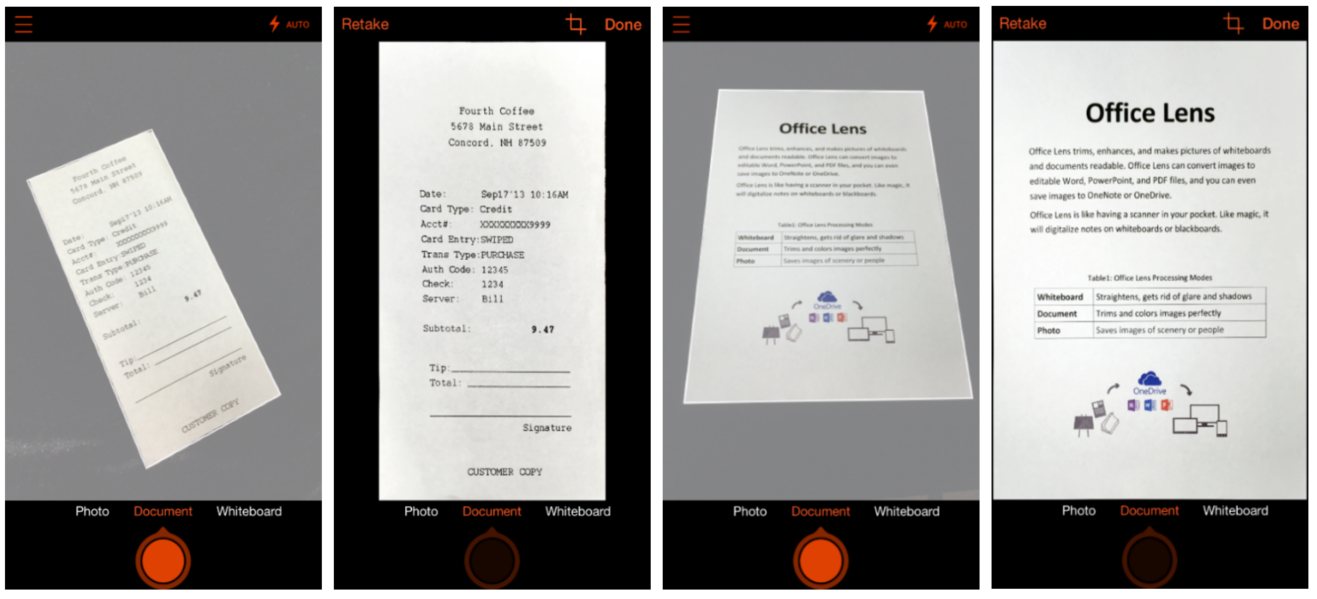Microsoft Office Lens 1.0 for iOS iPhone screenshot 001