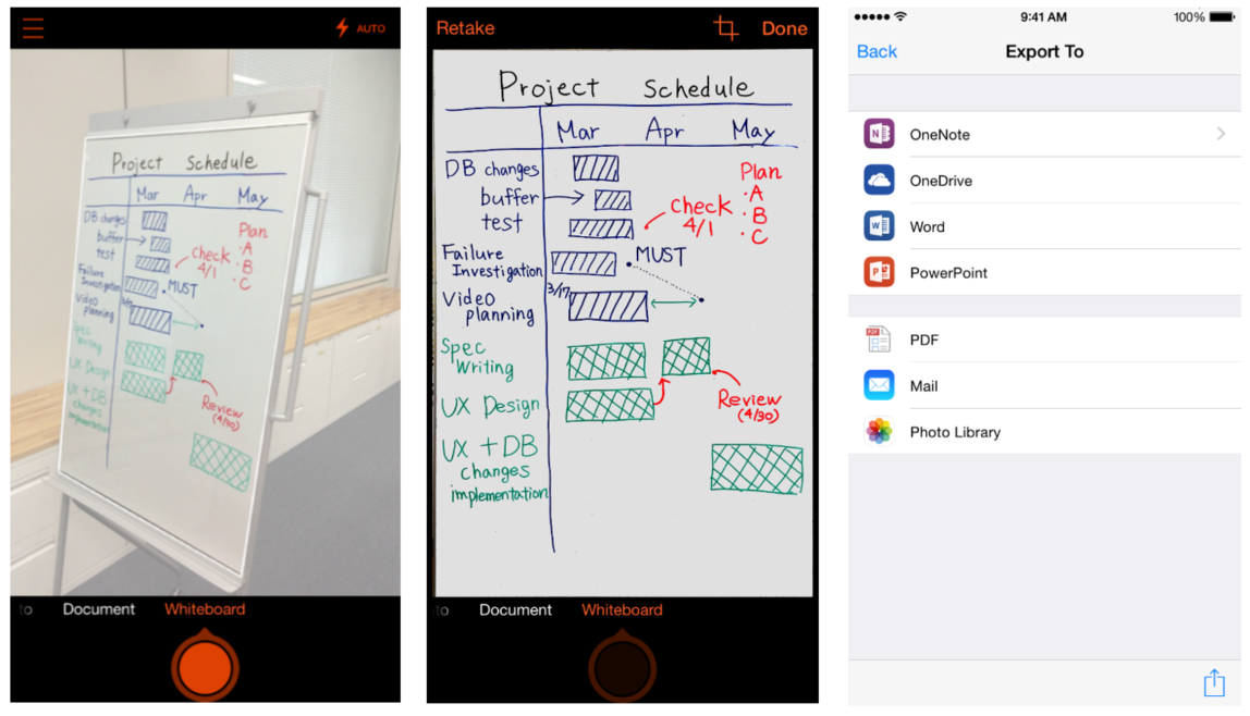 Microsoft Office Lens 1.0 for iOS iPhone screenshot 002