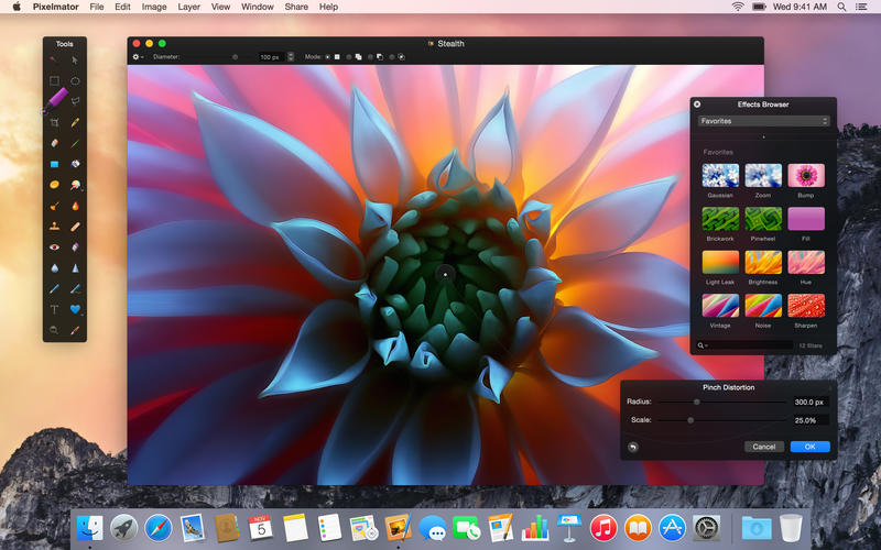 Pixelmator 3.3 for OS X Mac screenshot 001