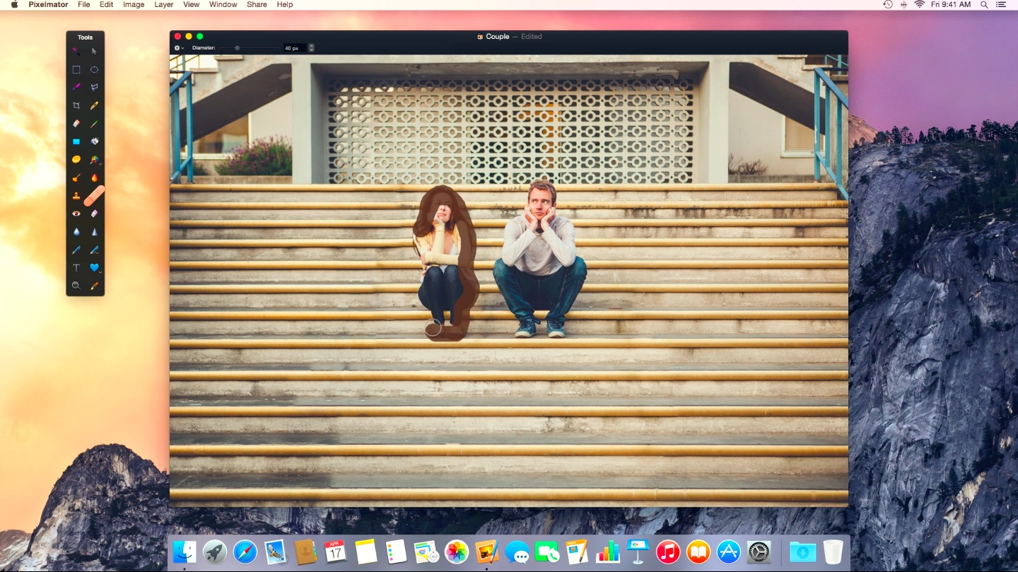 Pixelmator 3.3.2 for Mac improved Repair tool