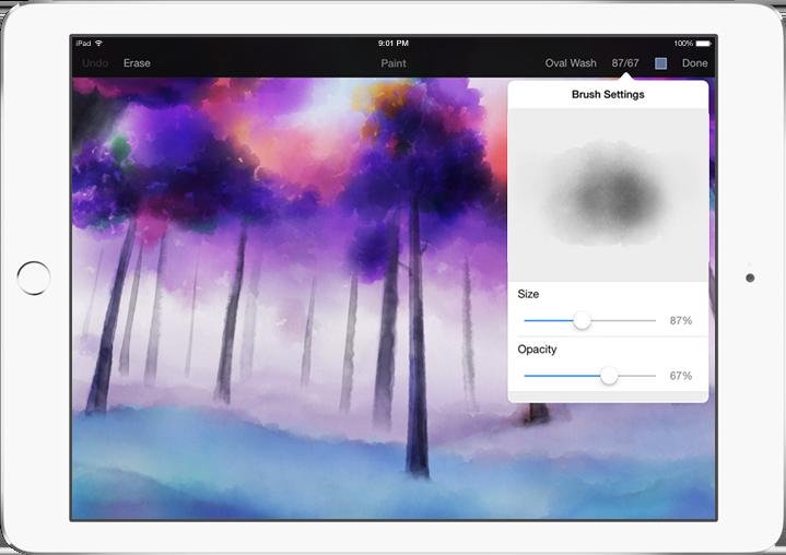 Pixelmator for iPad 1.1 Watercolor