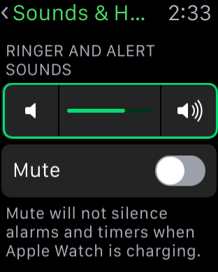 Sound and Haptics Apple Watch