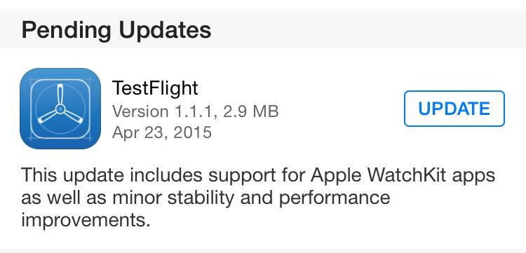 TestFlight AppleWatch support