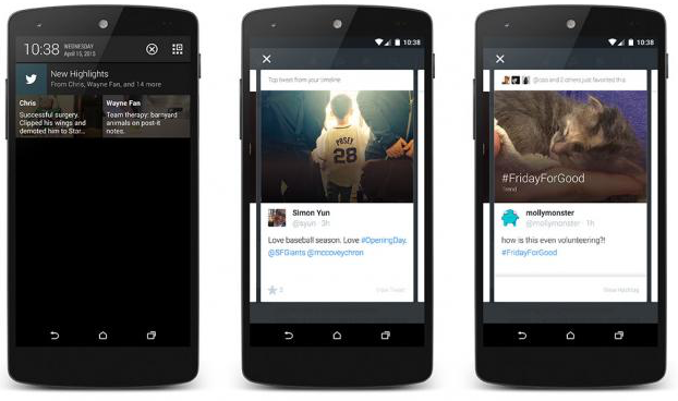Twitter Highlights Android screenshots